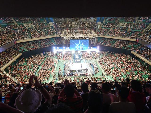 新日本プロレス日本武道館2階指定席