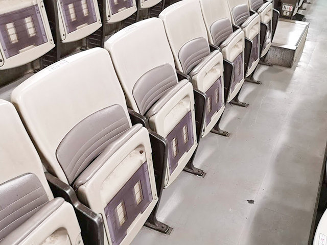 日本武道館1階指定席の椅子