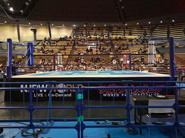 大田区総合体育館プロレス最前列