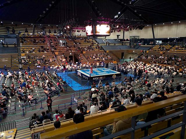 大田区総合体育館プロレス 2階スタンド席