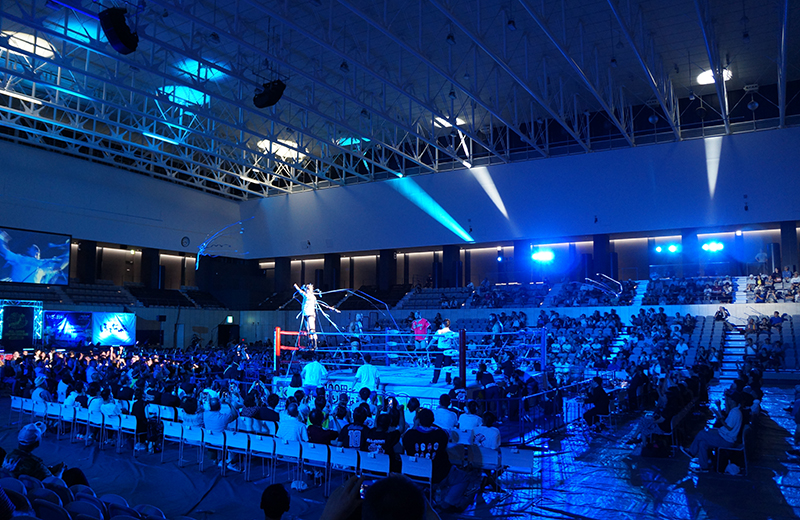 キッコーマンアリーナ(町田市立総合体育館)の座席を解説。初めてのプロレス観戦!
