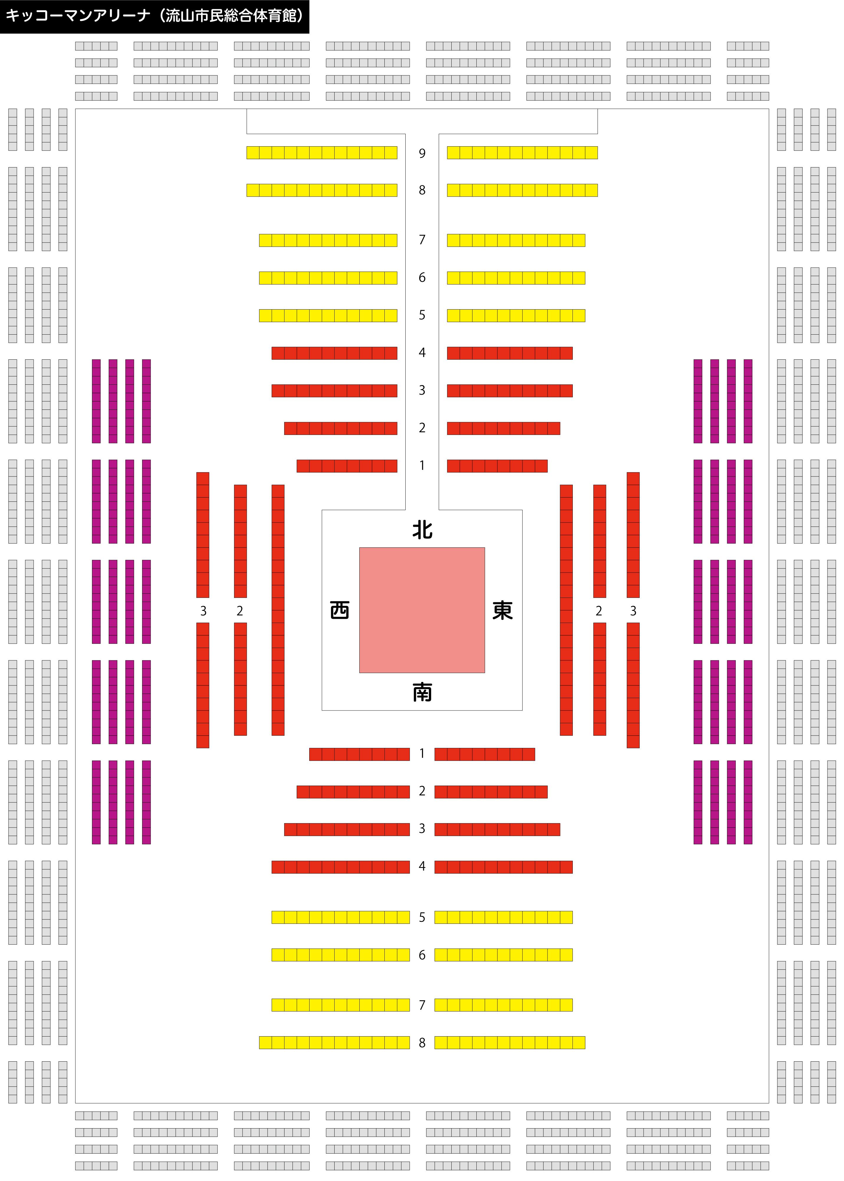 キッコーマンアリーナの座席ごとの特徴