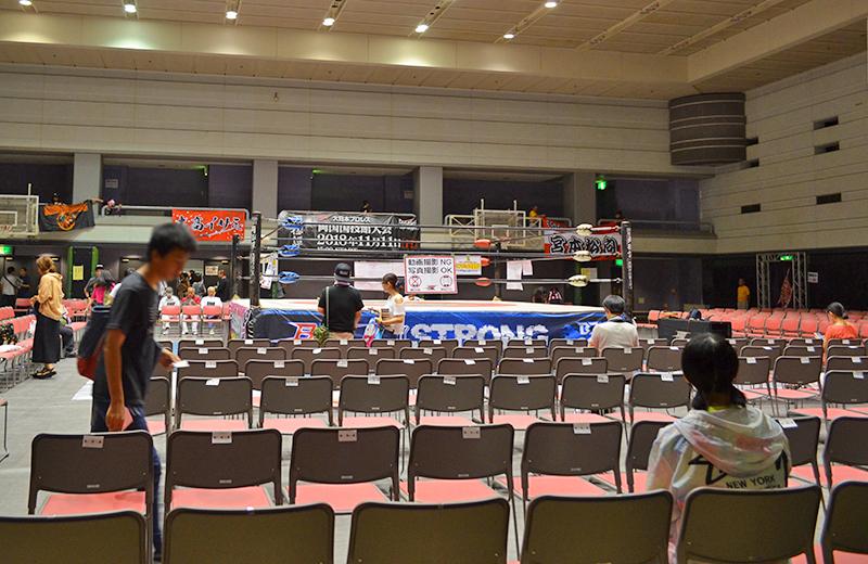 指定席からリング/大阪府立体育館第二競技場