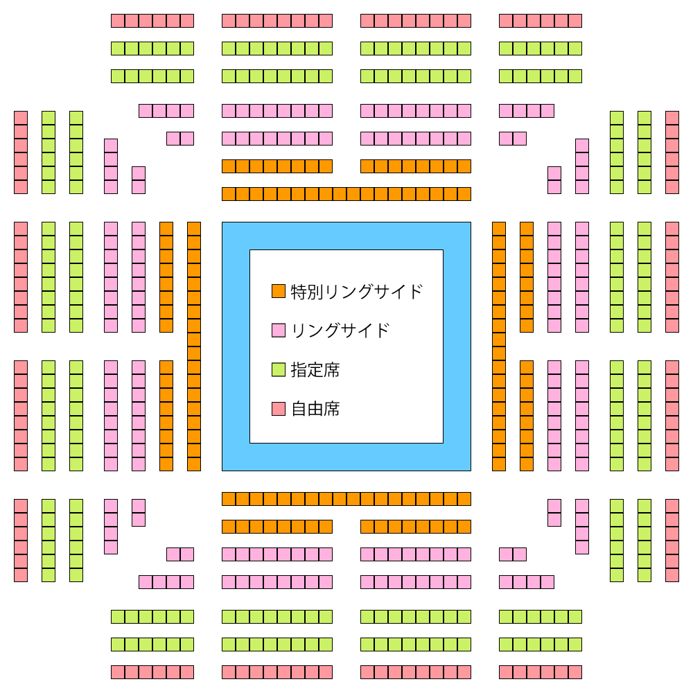 第二競技場・座席図/大阪府立体育館第二競技場