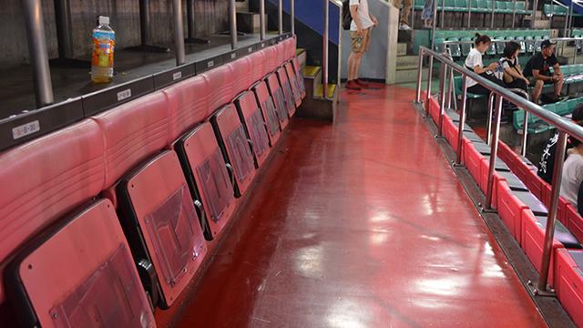 日本武道館のG列とN列の座席