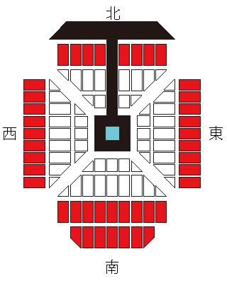 プロレス東京ドーム座席アリーナB