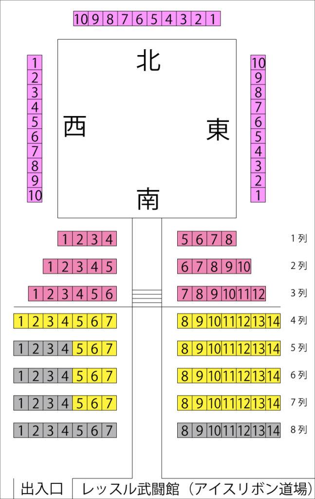 座席表/レッスル武闘館(アイスリボン道場)