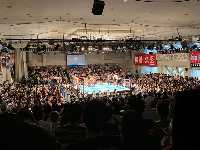 新日本プロレス、スタンドB席からリング