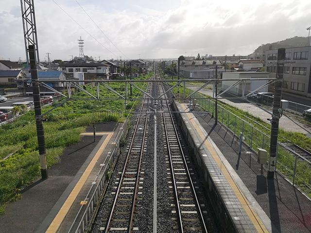 東金駅の線路