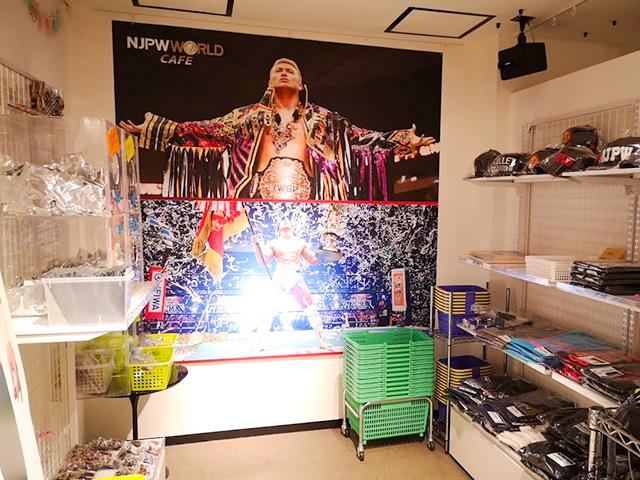 グッズ売り場/新日本プロレスワールドカフェ