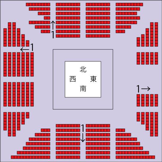 代々木競技場第二体育館リングサイド座席