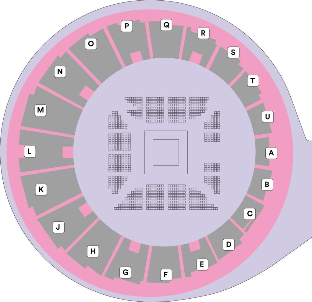 代々木競技場第二体育館スタンド座席