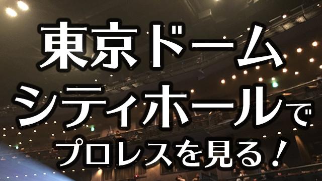 東京ドームシティホールでプロレスを見る!座席・アクセス・見え方を紹介