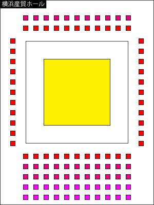 プロレス座席図/横浜産貿ホール