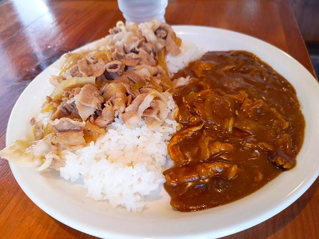 あいがけカレー/うまい肉と麺の店ヨネ家