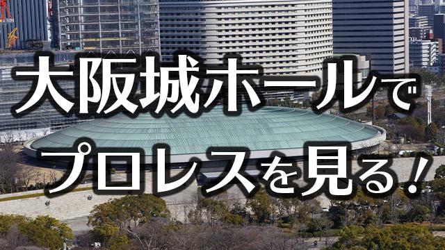 大阪城ホールでプロレスを見る!どのように見える?座席・アクセスを紹介
