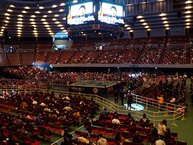 プロレス大阪城ホール・1階ひな壇B