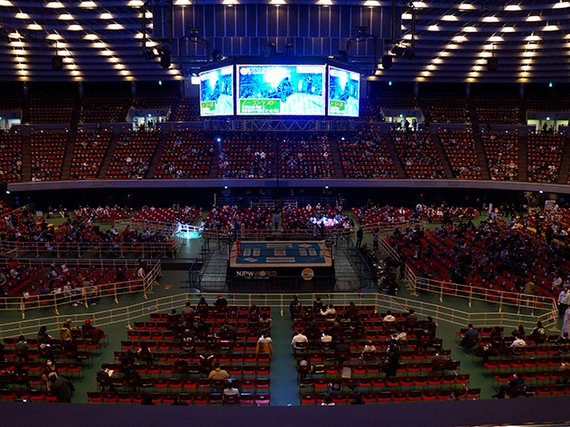 プロレス大阪城ホール・2階特別席