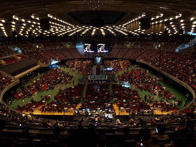 プロレス大阪城ホール・1階指定席B
