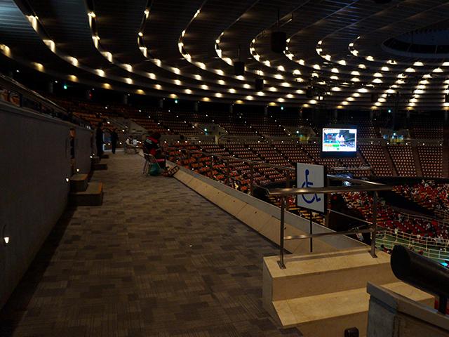 プロレス大阪城ホール・車椅子席