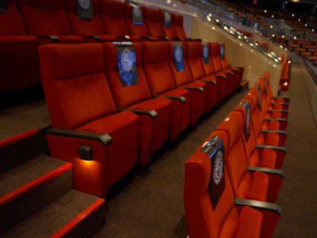 プロレス大阪城ホール・ボックス席の椅子