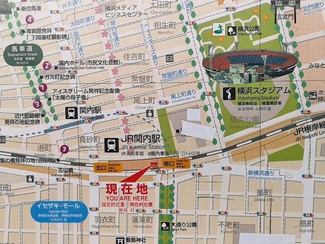横浜スタジアム周辺の地図